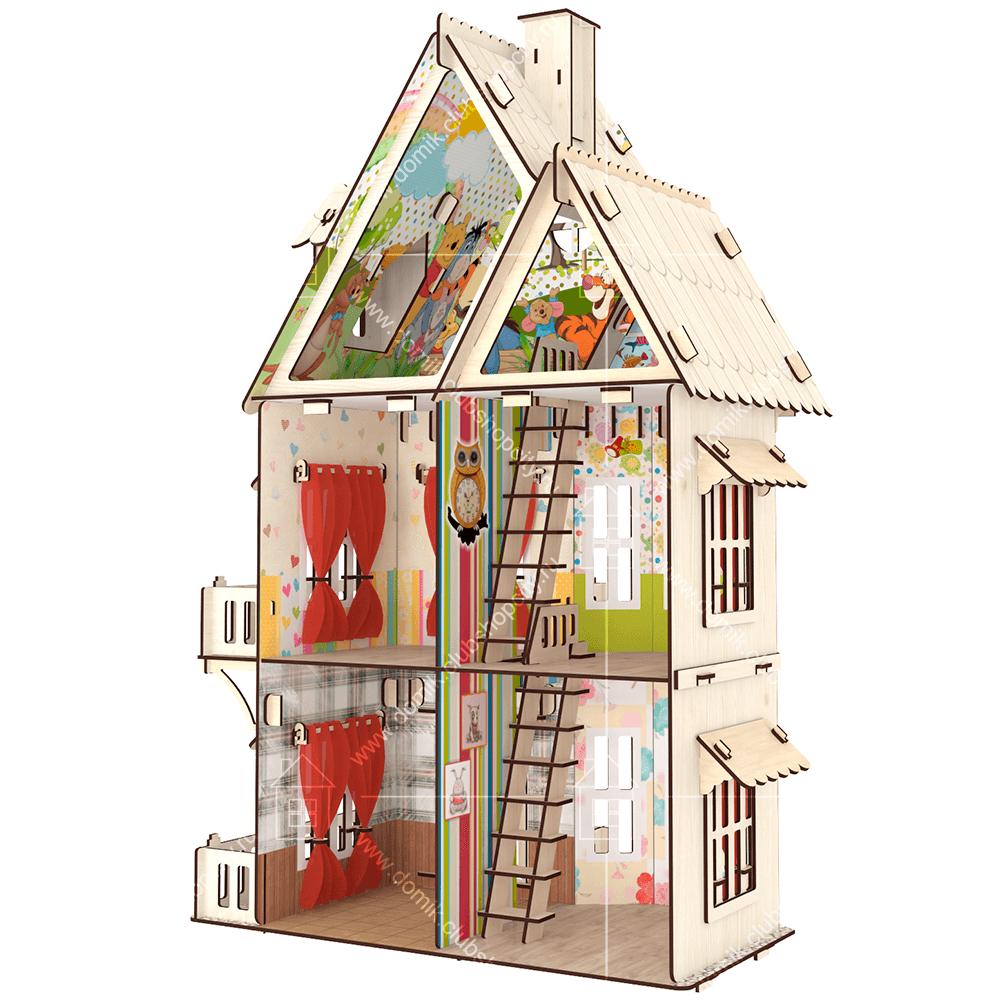 Кукольный домик «Стефания» - купить большой домик для кукол для ... | 1000x1000